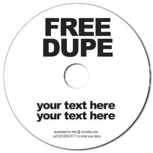 Free Duplication Service from CD-writer.com - call 0208230777