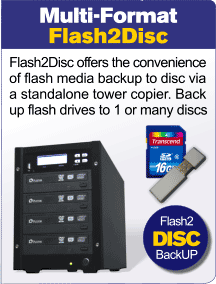 Flash 2 Disc Back Up duplicator